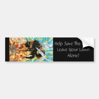 Save the Bees Car Decal Bumper Sticker