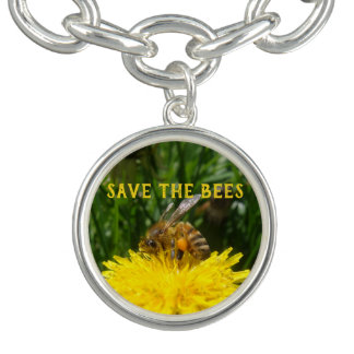 Save the Bees, Grow Dandelions Bracelets