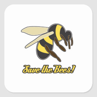 Save The Bees! Square Sticker
