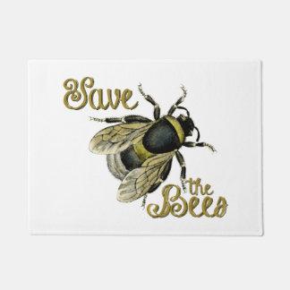 Save the Bees vintage illustration Doormat