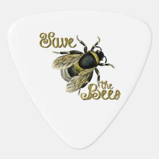 Save the Bees vintage illustration Guitar Pick