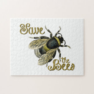 Save the Bees vintage illustration Jigsaw Puzzle