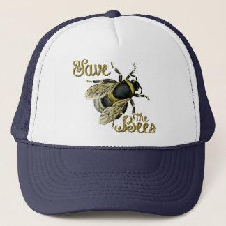 Save the Bees Vintage Illustration Trucker Hat