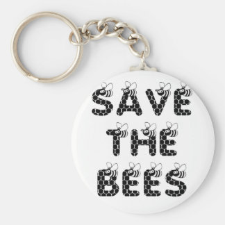 Save the Bees White Keychain