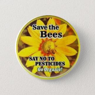 Save The BeesGo Organic 2 Inch Round Button