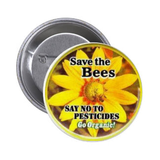 Save The BeesGo Organic 2 Inch Round Button