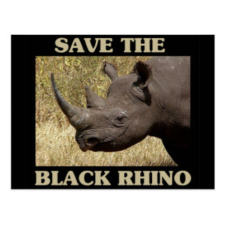 Save the Black Rhino Postcard