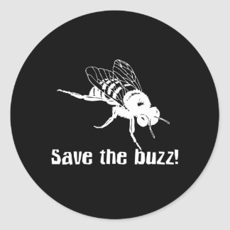 Save the Buzz Classic Round Sticker