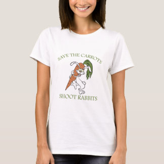 Save The Carrots Shoot Rabbits T-Shirt