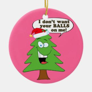 Save The Christmas Trees! Ceramic Ornament