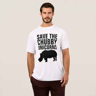 SAVE THE CHUBBY UNICORNS funny Rhino T-shirts
