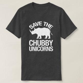 Save the Chubby Unicorns Funny Tshirt