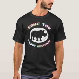 Save the Chubby Unicorns T-shirt - Funny Rhino Tee