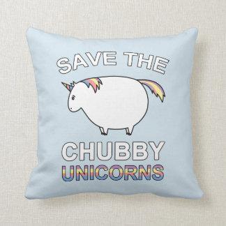 Save The Chubby Unicorns Throw Pillow