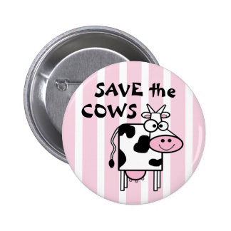 Save the Cows Cute Animal Rights 2 Inch Round Button