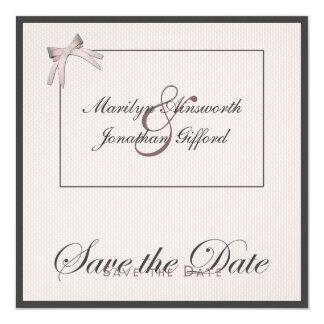 "Save the Date 01 5.25"" Square Invitation Card"