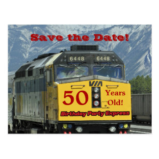 Save the Date 50th Birthday Celebration Postcard