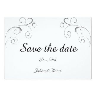 """Save the date 5"""" x 7"""" invitation card"""