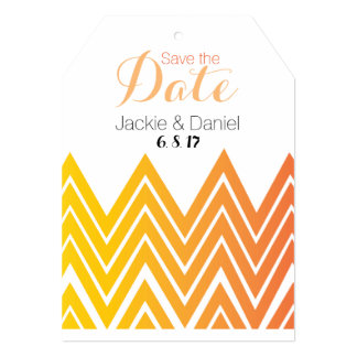 Save The Date 5x7 Invitation Tag