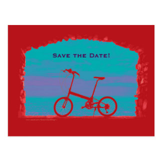 Save the Date 60th Birthday Party Postcard Bicycle