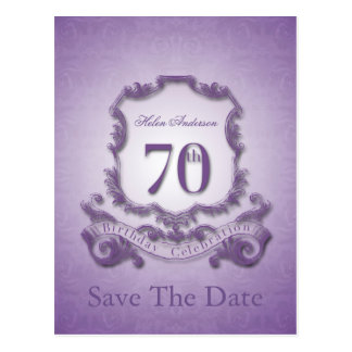 Save the Date  70th Birthday Personalized Postcard