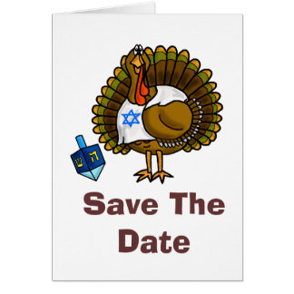 Save The Date 79811 Thanksgivukkah Greeting Card