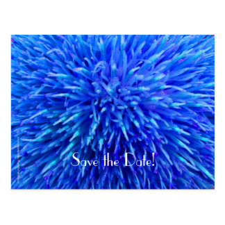 Save the Date 90th Birthday Party, Blue Abstract Postcard