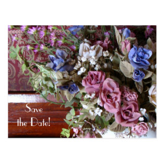 Save the Date 90th Birthday Party Floral Postcard