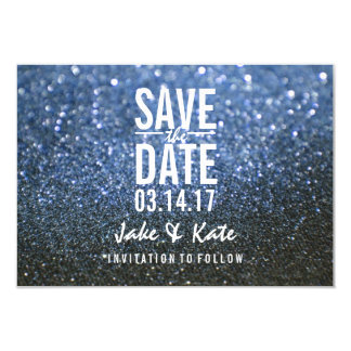 Save the Date - A Blue Lit Nite Card
