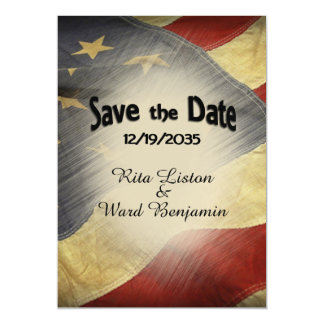 Save the Date American Flag Magnetic Invitations