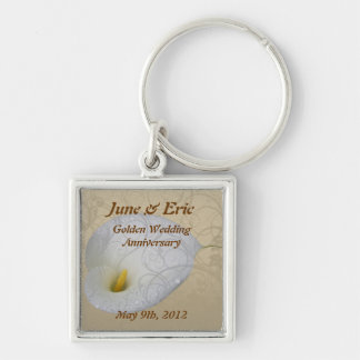 save the date anniversary key chain,  dew drop lil keychain