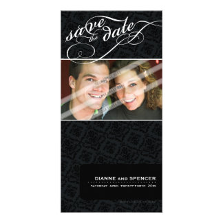SAVE THE DATE ANNOUNCEMENT :: fancy text 7 Card
