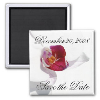 Save the Date Announcement Orchid Magnet
