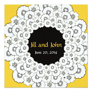 Save the Date Announcement Yellow Floral