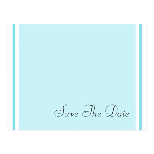 Save The Date Aqua Teal Postcards