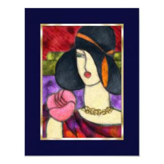Save the Date Art Deco Vivid Vivian Card