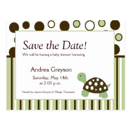 baby shower save the date template