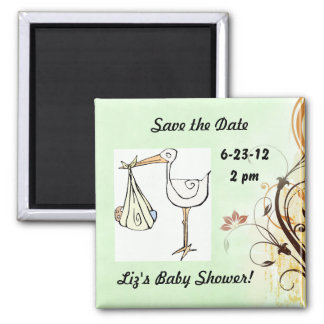 Save the Date Baby Shower Stork Magnet