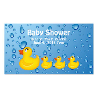 Save the Date Baby Shower Yellow Duckie Business Card