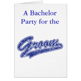 Save the Date/Bachelor Party Greeting Card