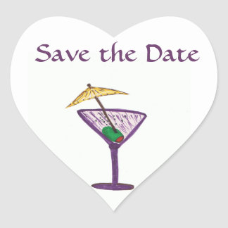Save the Date/Bachelorette Party Heart Sticker