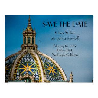 Save the Date Balboa Park San Diego Wedding Postcard