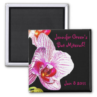 Save the date Bat Mitzvah Orchid Magnet