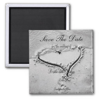 Save the Date Beach Heart Magnet