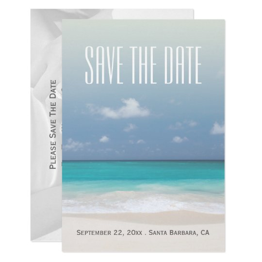 Save The Date Beach Personalized Wedding Card