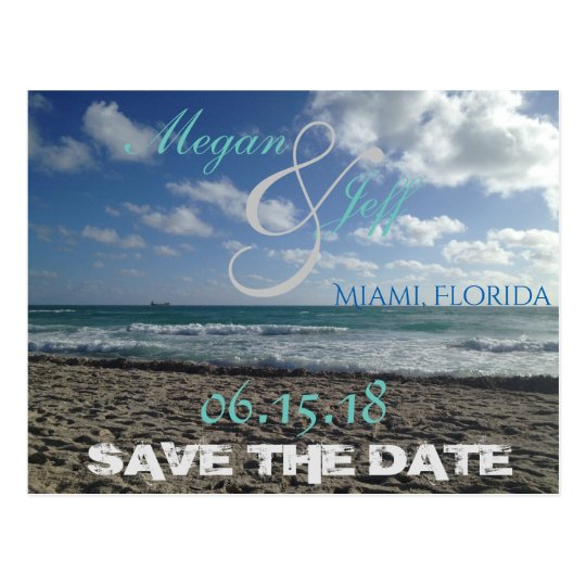 Save the Date Beach Postcard