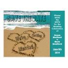 SAVE THE DATE - BEACH SCENE - POST CARD