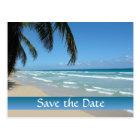 Save the Date Beach Scene Postcard