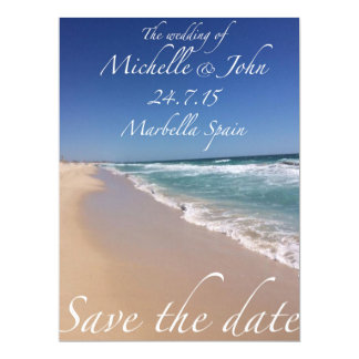Save the Date Beach Style Invitations