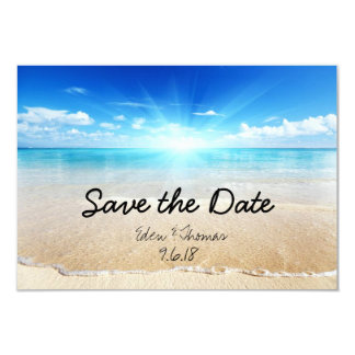 Save The Date Beach Waves Card